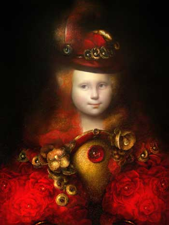 "Ольга Акаси - Инфанта. 2002 г. (69 х 90, холст, масло.) / ""Infanta"", 2002, (69 x 90, oil on canvas)"